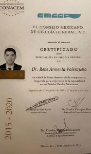 CMCG Mexican Board of General Surgery Dr Rene Armenta Valenzuela